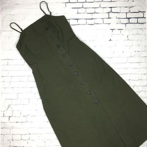 Who What Wear Sleeveless Button Down Midi Dress